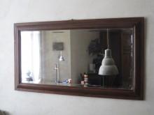 Spiegel mit Holzrahmen front