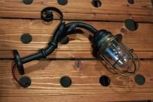 Schiffslampe aus Stahl
