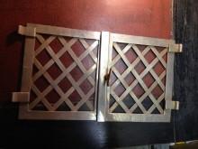 Flügeltüren Ofen Wärmefach aus messing vernickelt