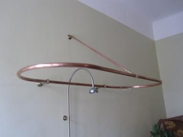Vorhangring für Badewanne angeferigt